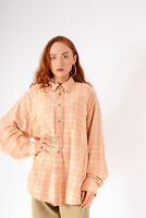 Vintage Checked Flannel Shirt Peach (L)