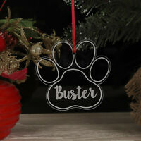 Personalised Christmas Tree Dog, Cat Paw Decoration Xmas Ornament Bauble Gift