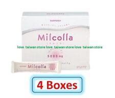 4 Box (DHL Ship) - New SUNTORY Milcolla Collagen Powder stick (120pcs =120days)