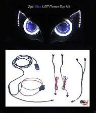 Blue Demon * Devil Eye * LED Motorcycle Headlight Evil Projector Backlight Kit