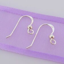 1 PAIR STERLING SILVER BALL HOOK EARRING EAR WIRES
