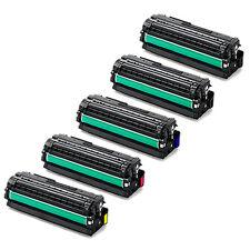 5-Pack Toner Set for for Samsung CLP-680ND CLX-6260FD CLP-680 6260 CLT-K506L