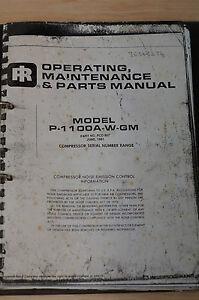 Ingersoll-Rand Compressor Manual P-1100A-W-GM
