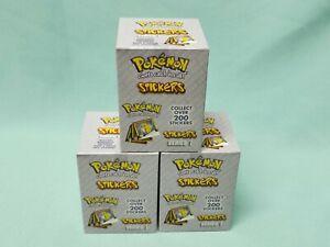 Pokemon ArtBox Sticker Serie 3 x Display / 90 Tüten / 900 Sticker