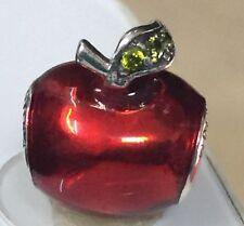 Authentic Pandora 925 ale silver charm beads  Disney Snow White Apple 791572 g