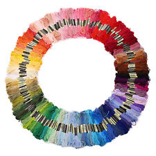 50pcs Mixed Color Embroidery Thread Cross Stitch Floss Sewing Skeins 100% Cotton