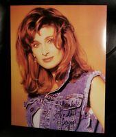 LINDA DAVIS SIGNED 8X10 FAN CLUB PUBLICITY PHOTO 1990'S ERA COUNTRY MUSIC SINGER