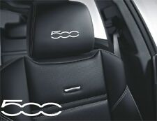 5x Fiat 500 Aufkleber Logo Simbol für Ledersitze und andere