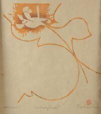 Keisuke Serizawa Japanese 1895 - 1984 Stencil Print Modest Flower, signed, AP