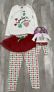Dollie and Me Santa's Sweetheart Pajamas Size 7 with Matching Doll Outfit NWT