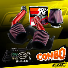 07-09 350Z V6 3.5L Red Cold Air Intake + K&N Air Filter