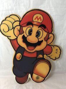 Super Mario Nintendo Original Kiosk Werbung Plastik Schild Sign 1992