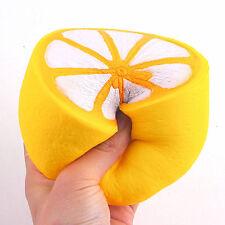 Hot Squishy Jumbo Half Lemon Fruit Scented Super Slow Rising Keyring Kid Fun Toy