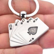 Porte-clés créatifs cartes à jouer mignon chic petits accessoires femmes enfants