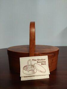 Shaker Design Hudsonville MI Oval Wood Shaker Sewing Box Reproduction