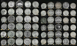 60 BIG SILVER OLD WORLD COINS > BU BEAUTIES!! >  38+ TrOz Gross Wt > NO RESERVE