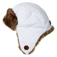 Timberland Trapper Hat White Unisex Warm Winter Adjustable Chin Strap Cap XS