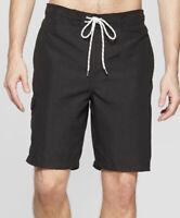 "Goodfellow & Co Board 8"" Swim Trunks Board Shorts UPF 50+ Black Men's Size L New"