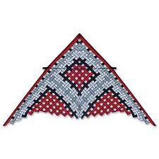 Kite 11 ft Black Red White Delta Mesh by Willie Koch..125.... PR 45353