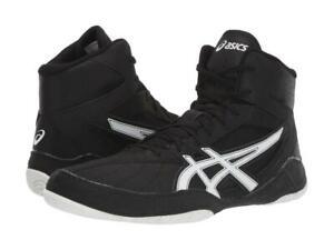 New Asics MatControl Wrestling Shoes Men's Size 7-13 Black White 1081A020-003