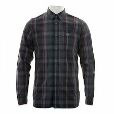 Lacoste Slim Check Button Down Casual Shirts & Tops for Men