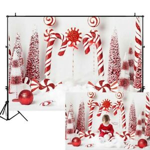 Christmas Candy Cane Photography Backdrop Newborn Birthday Photo Background