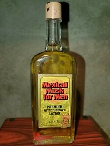 MEXICALI MUSK PREMIUM AFTERSHAVE LOTION! THE RARE MUSK YOUR FATHER WORE! 2.75 OZ