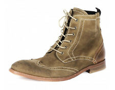 H By Hudson Reswick Suede Brogue Ankle Boots Size UK 9 Euro 43 - RRP £125