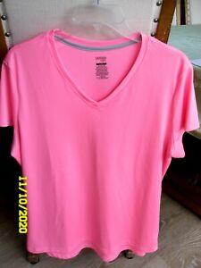 Danskin Now Dri More Hot Pink T-Shirt Loose Fit XXL