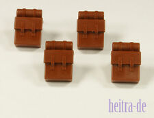 LEGO - 4 x Marrone Zaino/Zaini/Reddish Brown BACKPACK/2524 Merce Nuova