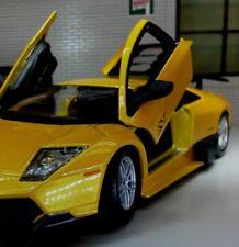 G 1:24 Scala Lamborghini Murcielago Lp 670-4 Sv 2009 BBURAGO pressofuso modello