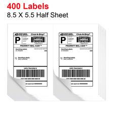 400 Premium Half Sheet Shipping Labels 2 Per Sheet 85 X 55 Self Adhesive Us