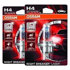 2x OSRAM NIGHT BREAKER LASER H4 64193NBL-01B Halogen Lampe Birne 12V 60/55 W
