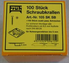FRÜH Schraubkrallen Nr. 105 Profilbrettkrallen für Nutwangenstärke 5 mm