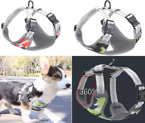 Dog Harness Collar Lead Adjustable Padded Resistant Non Pull Vest Puppy UK DH6