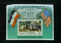 Burkina Faso # 367A, U.S. Bicentennial, Souvenir Sheet, CTO
