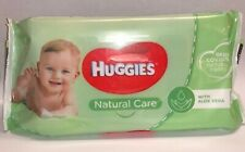 HUGGIES Natural Care Baby Wipes with Aloe Vera and Resealable Tape Top 56 Count
