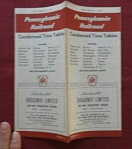 1960 PRR PENNSYLVANIA RAILROAD RAILWAY TIME TABLE BROADWAY LIMITED TRAIN NICE