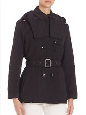 Burberry Brit 'Knightsdale' Black Drop Tail Trench Coat Size US14 $895.00