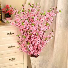 Tree Decor Artificial Cherry Spring Plum Peach Blossom Branch Silk Flowers Home