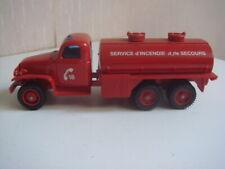Solido 1/50 Metal Pompier ACMAT 6x6 citerne 3176