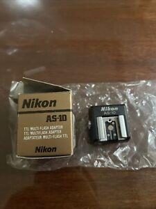 New Nikon AS-10 TTL Multi-Flash Adapter Made In Japan