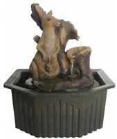 Water Feature - Australian Kangaroo with Joey in Pouch Indoor Cascading Fountain