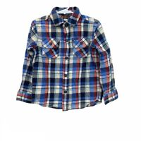 Tea Collection Plaid Flannel Long Sleeve Button Up Shirt Boys size 4