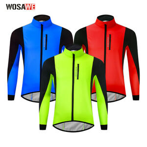 Mens Cycling Jackets Winter Thermal Fleece Bike Jerseys Bicycle Jacket M-3XL