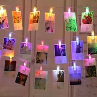 10/20/30 LED Photo Window Hanging Peg Clips String Lights Home Party Fairy Decor