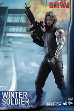 "Winter Soldier Bucky Barnes Civil War 1/6 Marvel MMS351 12"" Figur Hot Toys"
