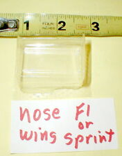 """World Outlaw Sprint Car Nose Wing  Lexan Long 1"""" X Wide 1 1/2"""" slot car #clear"""