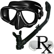 Rx Optical Prescription Purge Mask Dry Snorkel for Scuba Diving Snorkeling Gear