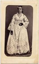 Rare original CDV portrait Arab woman African costume Jewelry Egypt ? 1870c S316